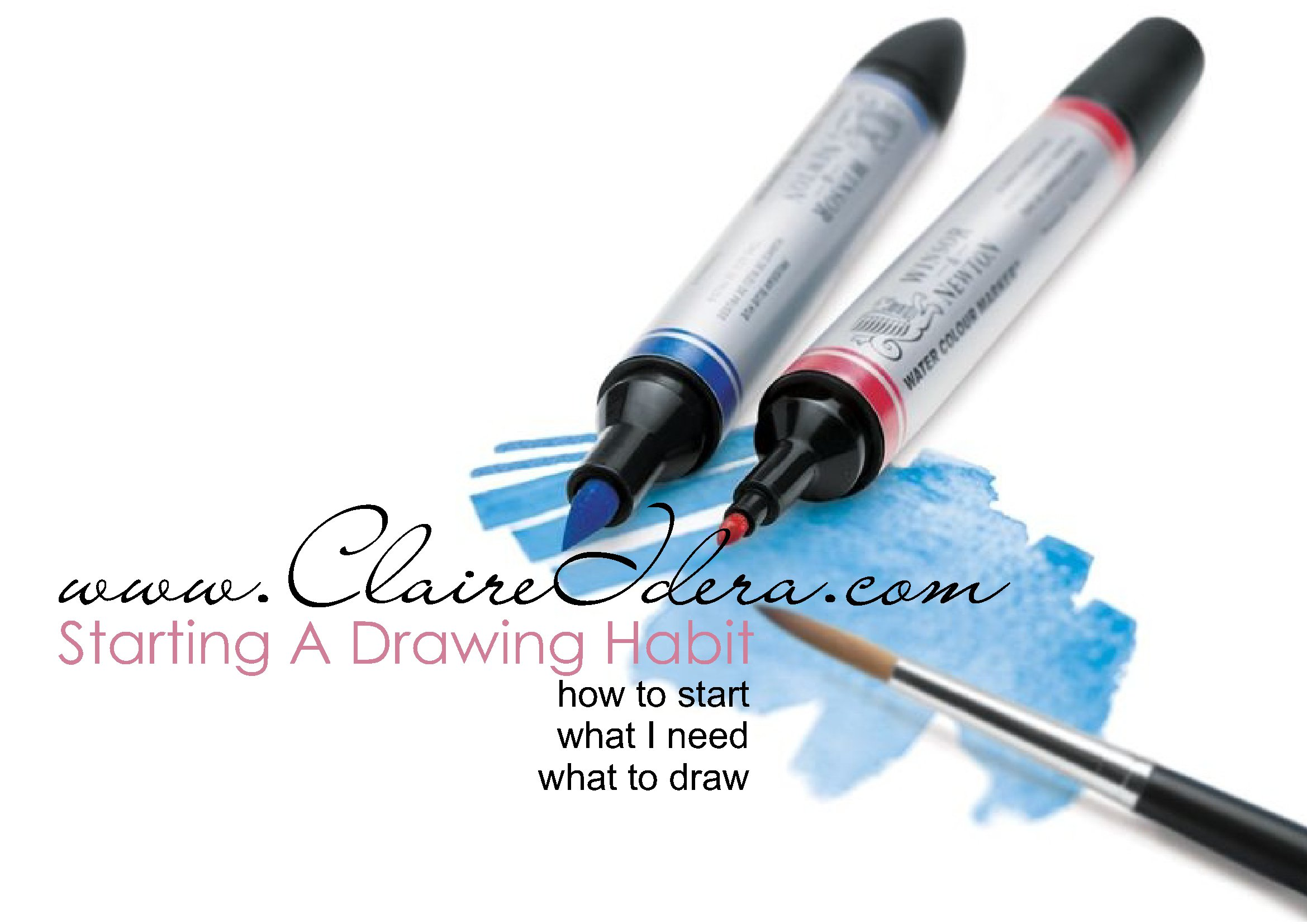 START A DRAWING HABIT AND #DrawwithClaire